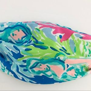 Lilly Pulitzer Mermaid pattern 3 pleat face mask